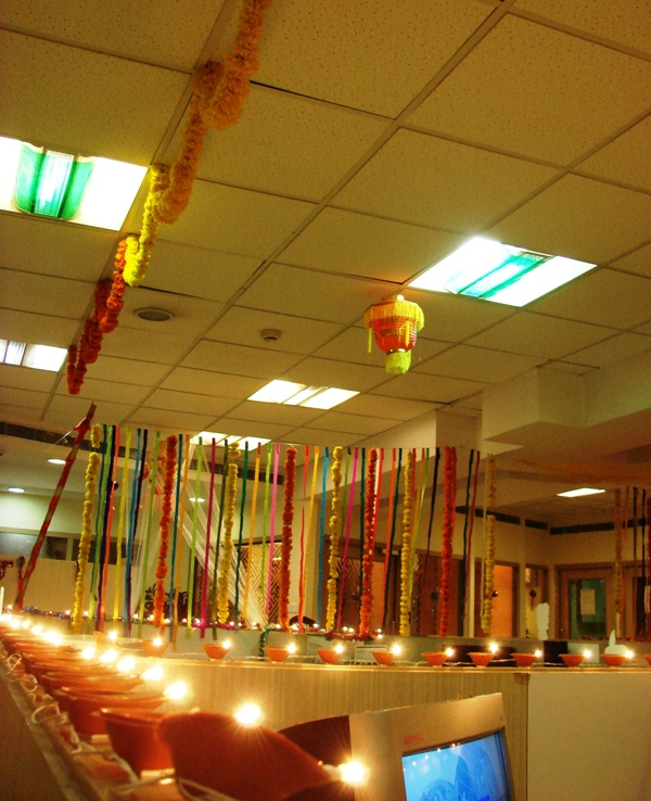 work place in diwali