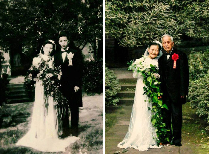 98-Year-Old Couple Recreate Their Wedding Day (1)