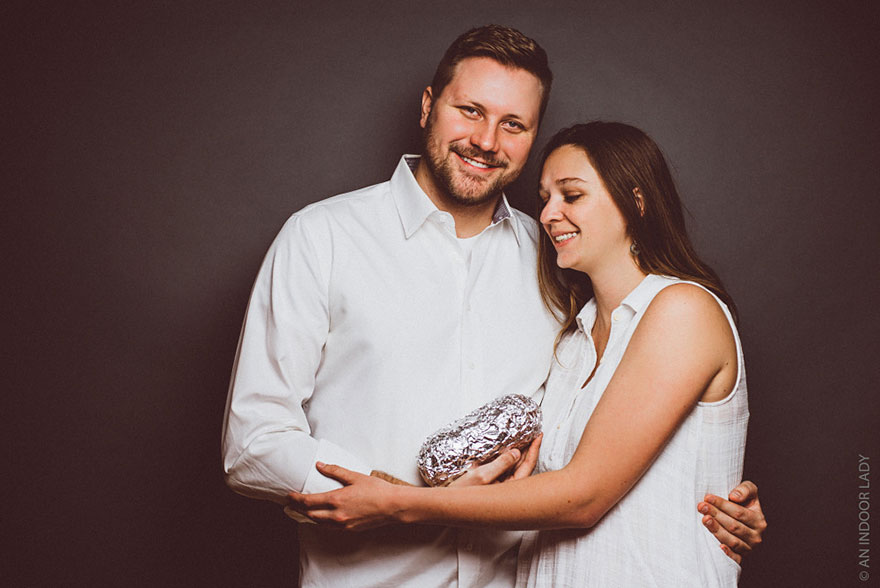 A Baby Photoshoot With A Burrito (1)