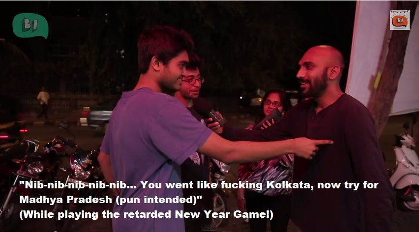 Being Indian New Year Video playing the game
