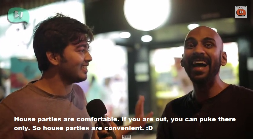 Being Indian New Year Video talking about house parties
