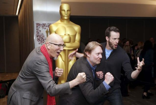 Big hero 6 team at the Oscar