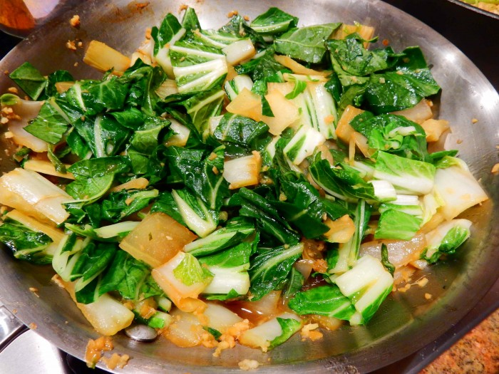 Bok Choy, Potato and Onion Side Dish