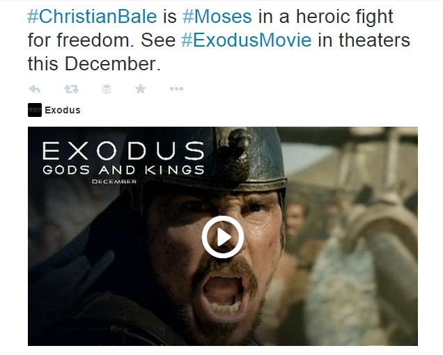 Christain Bale is Moses in a heroic fight for freedome