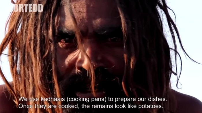 Confessions Of An Aghori Baba - remains look like potatoes