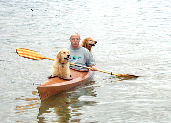 David Bahnson with his dogs