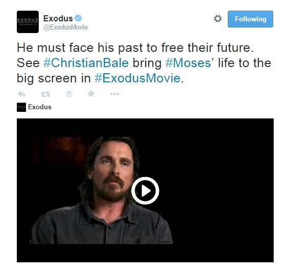Exodus. Face his past for the future. Moses