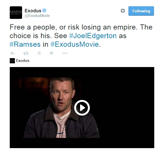 Free a people, or risk losing an empire. The choice is his. Exodu. Moses
