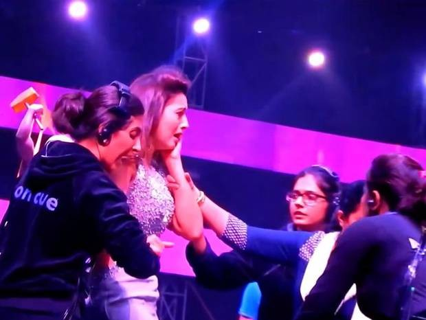 Gauhar-Khan slapped-YoUTube