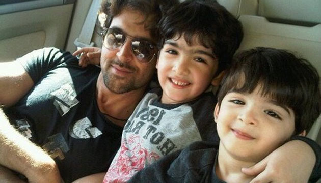HRITHIK Roshan with sons