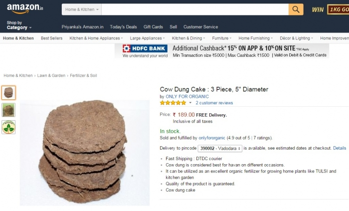 Holy Cow! What a time to be alive! You can now buy cow dung online (4)