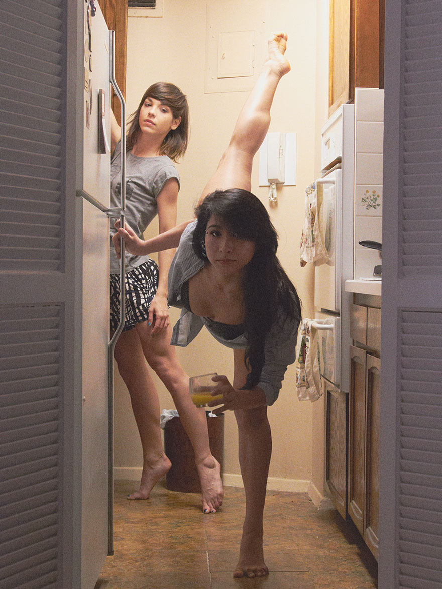 Home-Stage-I-photograph-dancers-in-their-own-homes holding glass of juice
