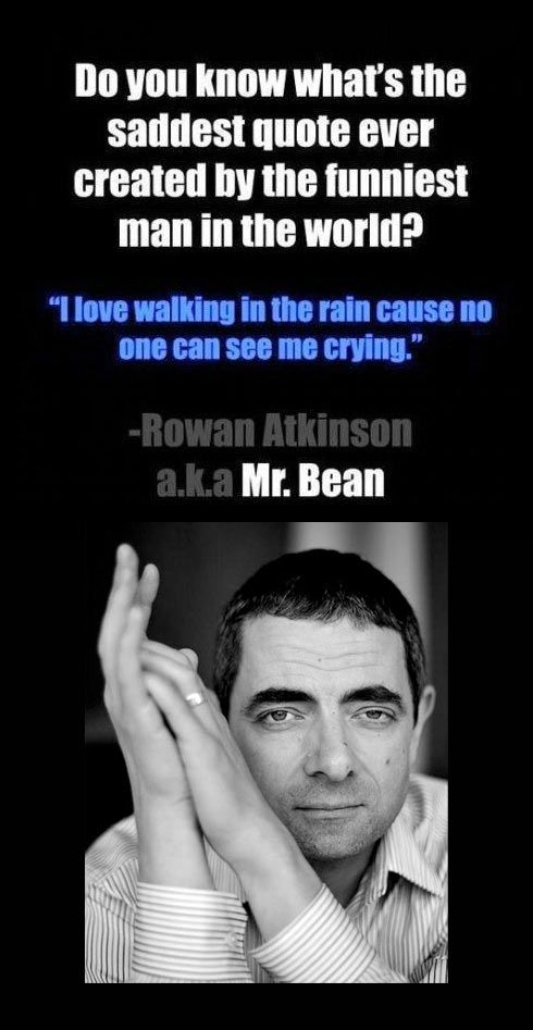 I love walking in the rain