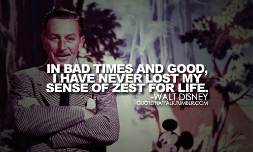 In bad times and good walt disney