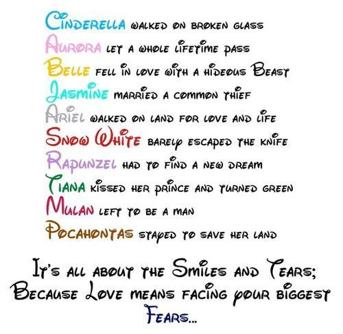 It is all about smile and tears walt disney quotes