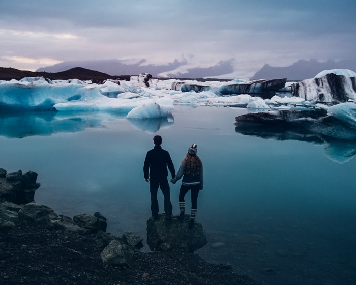 Jeremy and Rachelle got married in iceland.jpg hand in hand