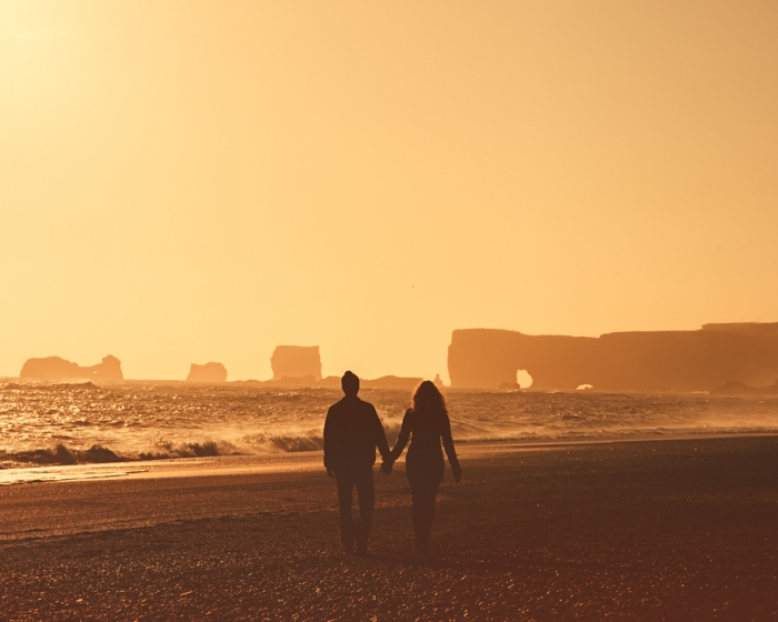 Jeremy and Rachelle got married in iceland.jpg sunset