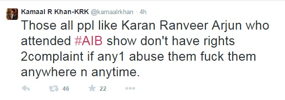 KRK unhappy about AIB knockout 2