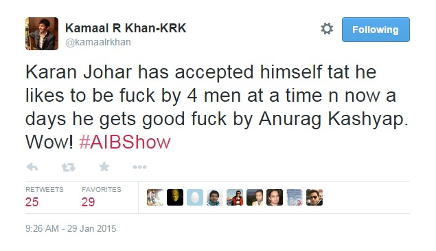 KRK unhappy about AIB knockout 4