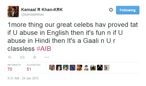 KRK unhappy about AIB knockout 5
