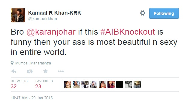 KRK unhappy about AIB knockout 8