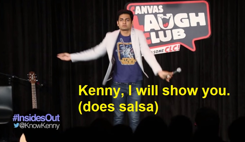 Kenny, I will show you. (does salsa)