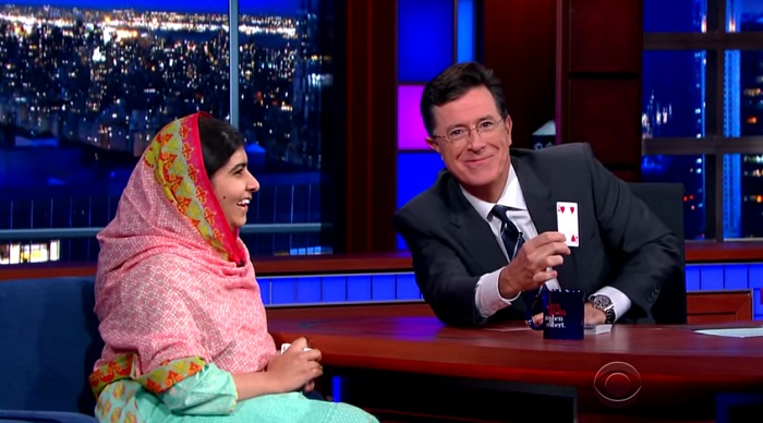 Malala Yousafzai & Stephen Do Card Tricks- the card