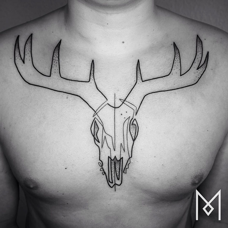 Minimalist Single Line Tattoos (10)