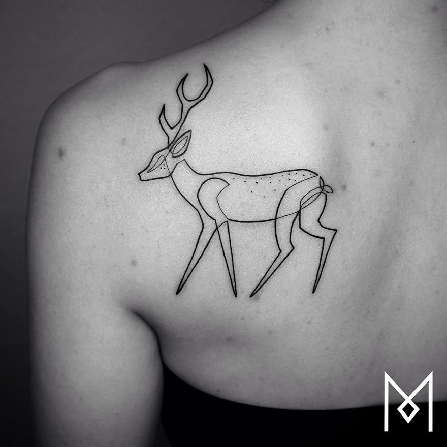 Minimalist Single Line Tattoos (6)