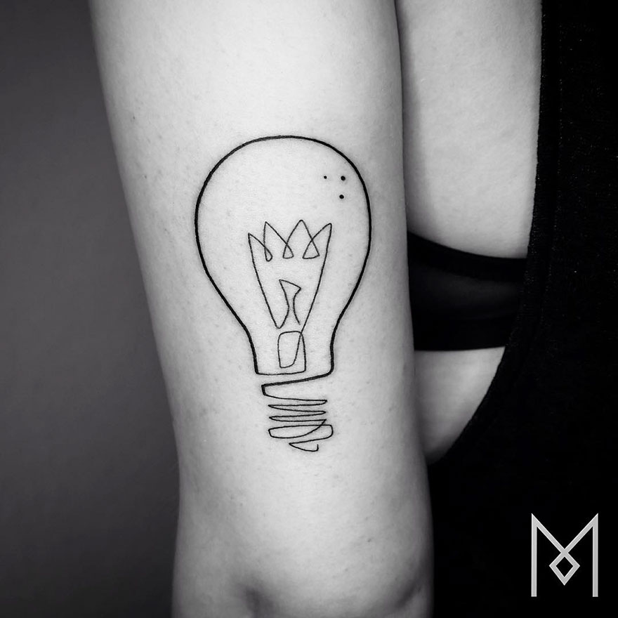 Minimalist Single Line Tattoos (8)