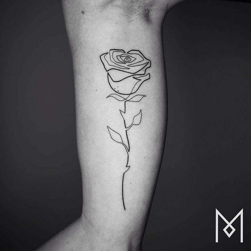 Minimalist Single Line Tattoos (9)