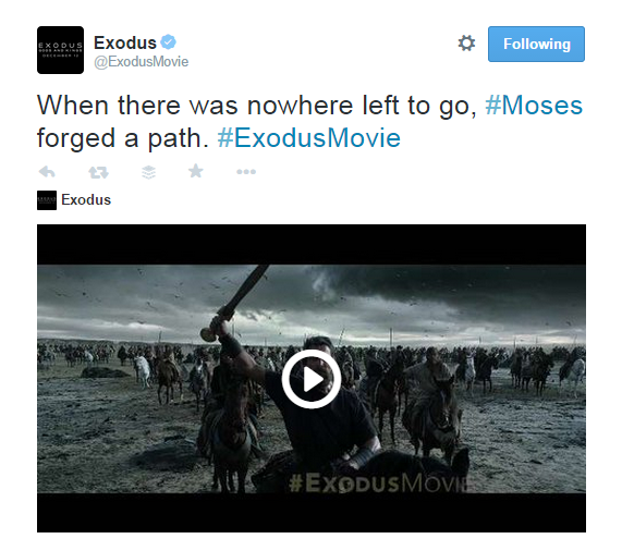 Moses forged a path.Exodus