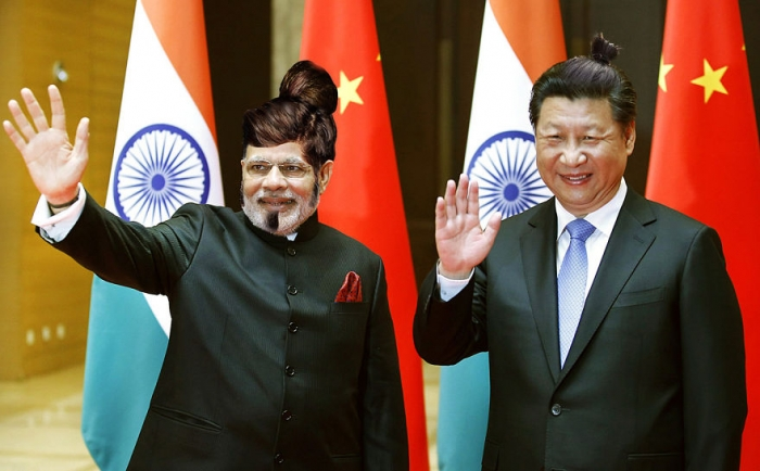 Narendra Modi and Xi Bunping