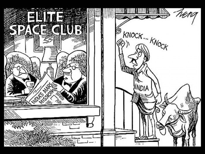 New York Times India's Mars Mission cartoon