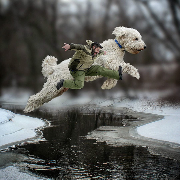 Photographer Photoshops His Dog Into A Giant (3)