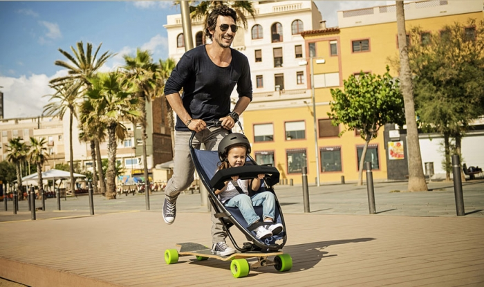 Quinny longboard babe stroller 2