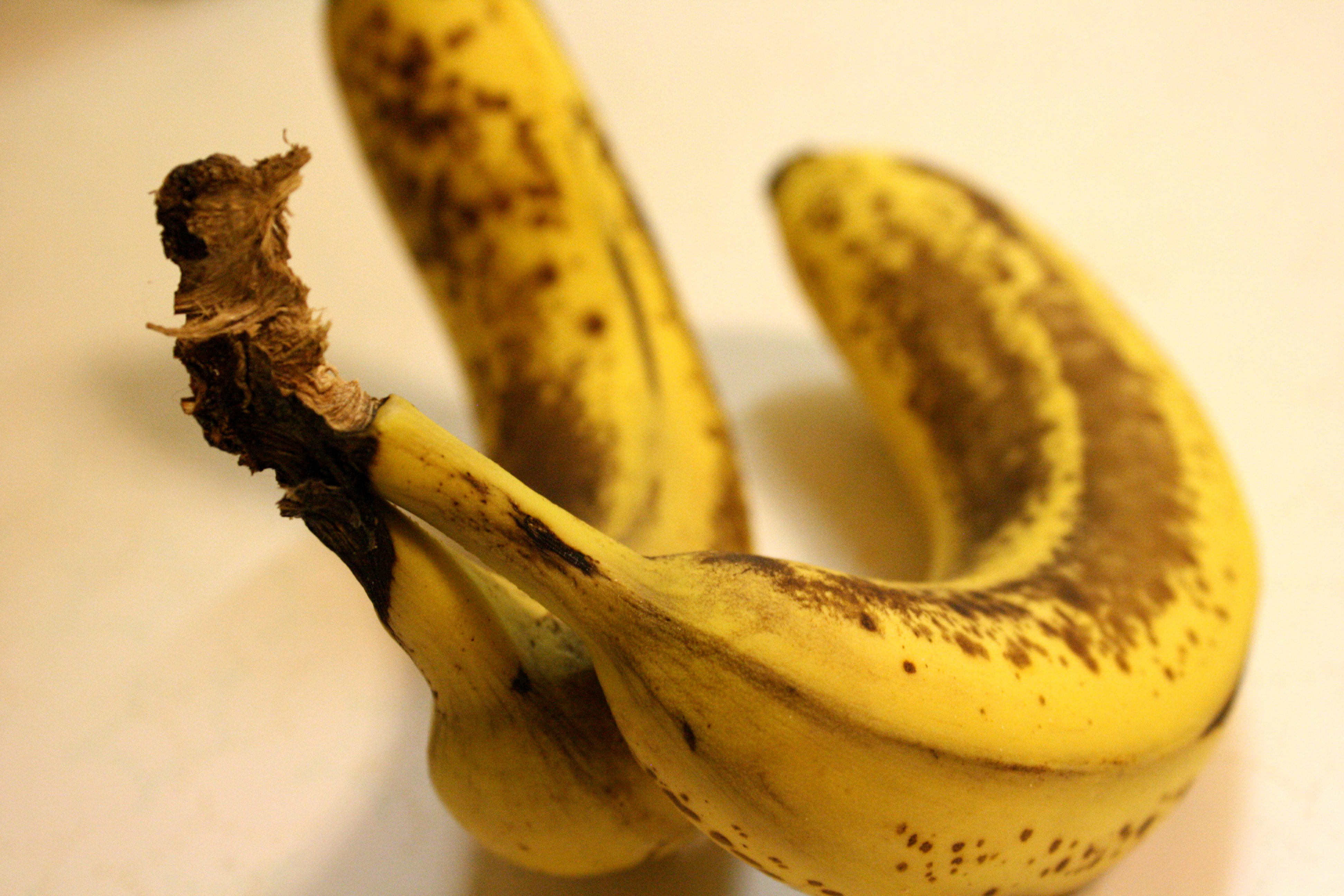 Ripen bananas by putting them in the oven for 40 minutes at 300F