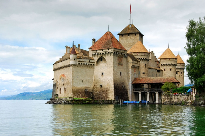 The Little Mermaid – Chateau De Chillon, Lake Geneva, Switzerland real