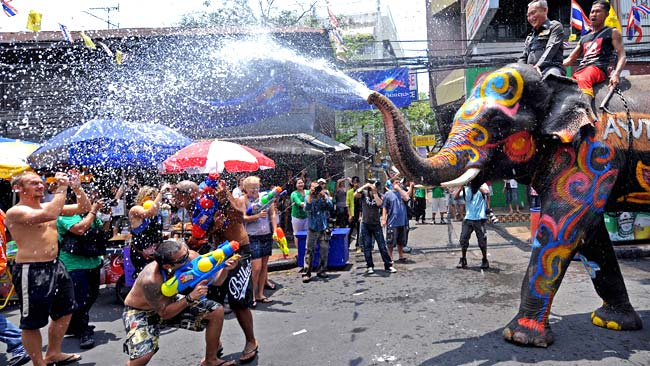 The Songkran festival