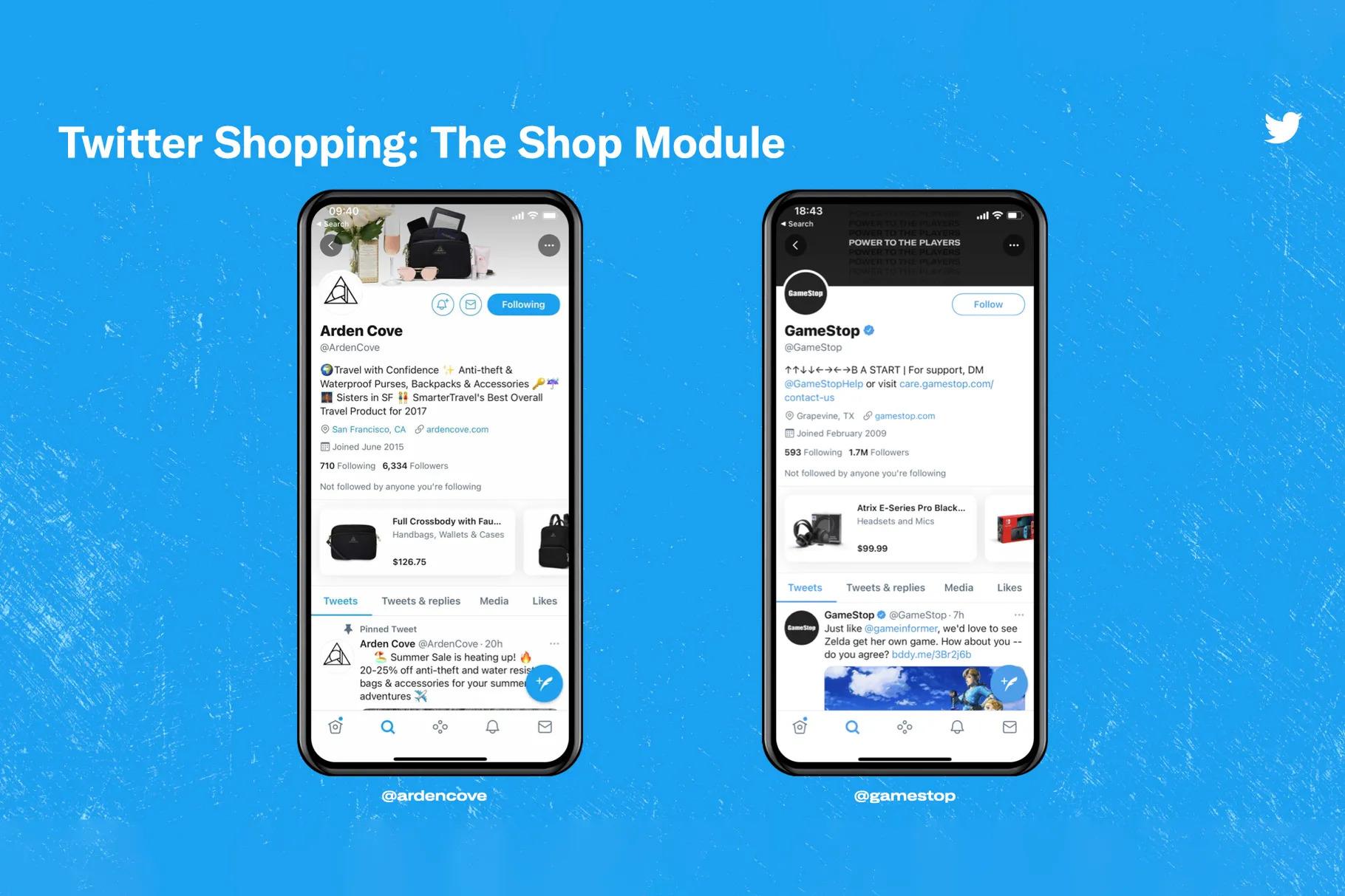 Twitter Shopping - Shop Module