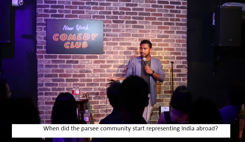 When did the parsee community start representing India abroad