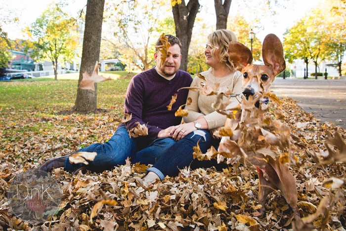 Wiener Dog Photobombs Couple's Engagement Photos (3)