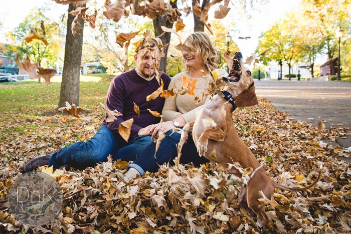 Wiener Dog Photobombs Couple's Engagement Photos (5)