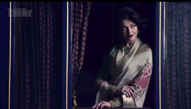 aish for condenast posing for the shoot 2