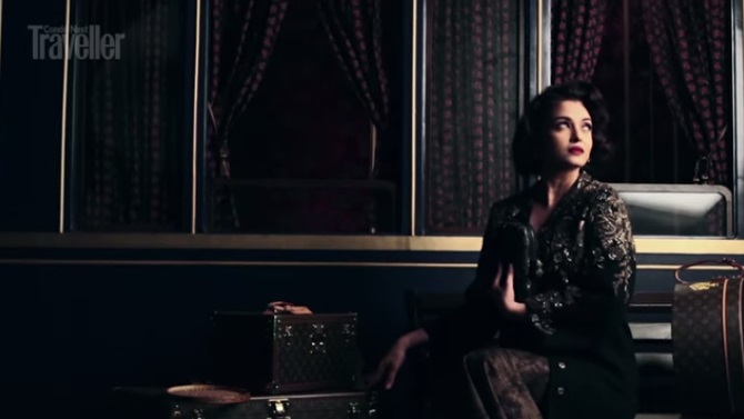 aish for condenast posing for the shoot 3