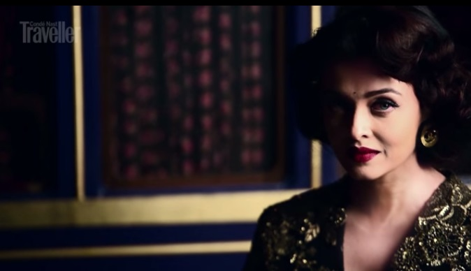 aish for condenast posing for the shoot 4