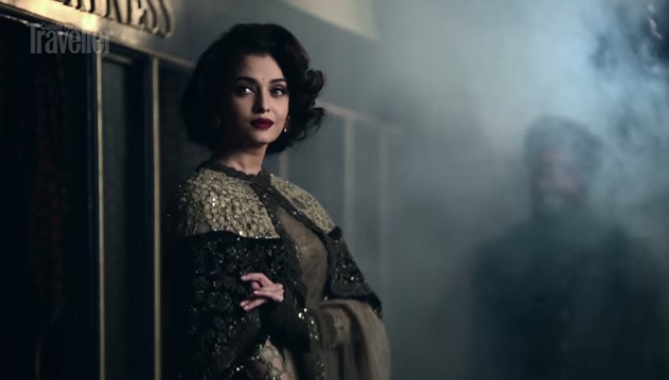 aish for condenast posing for the shoot
