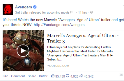 avengers official page