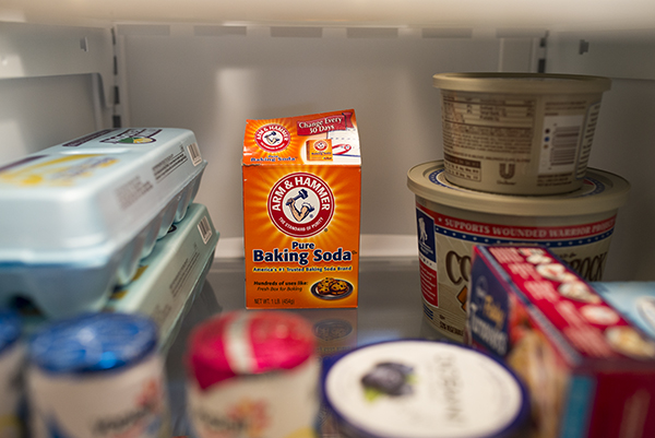 baking soda in the freezer