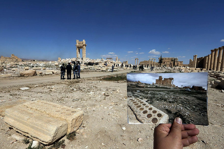 before and after isis destroyed monumentspalmyra (4)